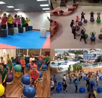 Unidades do Sesc São Paulo se desafiam em coreografia de Percussão em Biobol